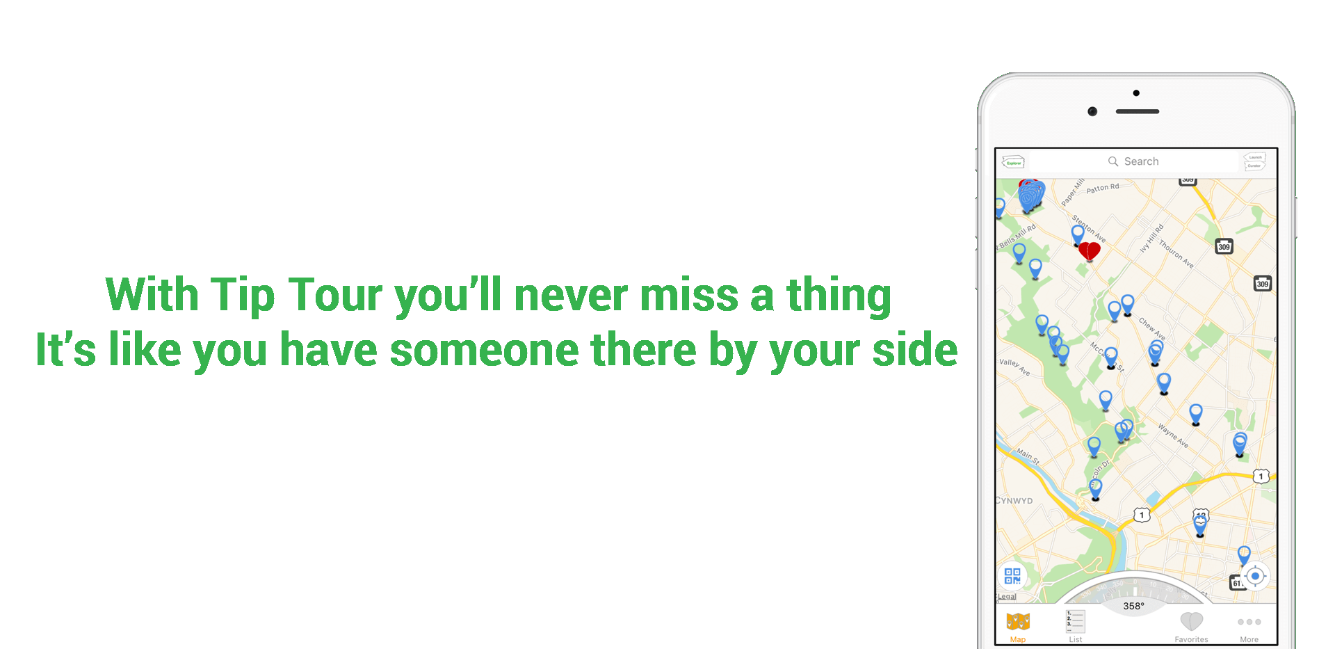 With TipTour you'll never miss a thing. It's like you have someone there by your side